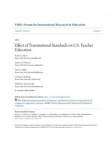 Effect of Transnational Standards on US Teacher ... - Lehigh Preserve