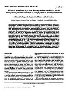Effect of trovafloxacin, a new fluoroquinolone antibiotic, on the steady ...