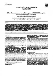 Effect of turning parameters on surface roughness of ... - Springer Link