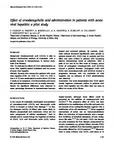 Effect of ursodeoxycholic acid administration in ... - Wiley Online Library