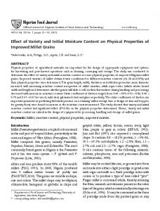 Effect of Variety and Initial Moisture Content on Physical ... - Core