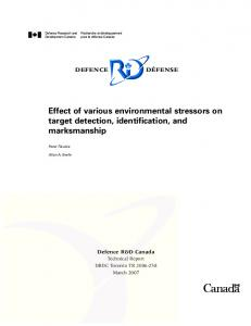 Effect of various environmental stressors on target detection ...