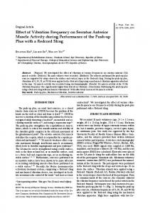 Effect of Vibration Frequency on Serratus Anterior