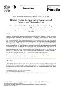 Effect of Volatile Reactions on the Thermochemical