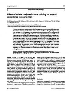 Effect of whole body resistance training on arterial compliance in ...