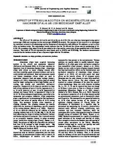 effect of ytterbium addition on microstructure and ... - ARPN Journals
