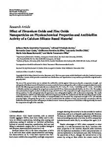 Effect of Zirconium Oxide and Zinc Oxide Nanoparticles on