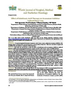 Effect of Zoledronic Acid Therapy on Aromatase Inhibitor Induced ...
