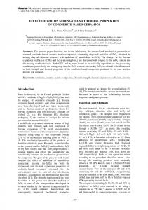 Effect of ZrO2 on strength and thermal properties of
