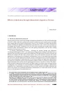 Effective Adjudication through Administrative ... - Utrecht Law Review