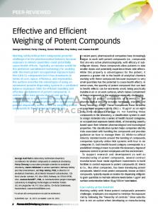 Effective and Efficient Weighing of Potent Compounds