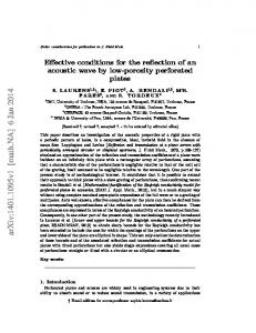 Effective conditions for the reflection of an acoustic wave by low ...