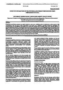 effective extraction of polyphenols and proanthocyanidins from ...