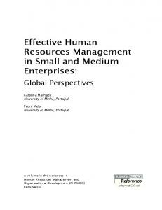 Effective Human Resources Management in Small ...
