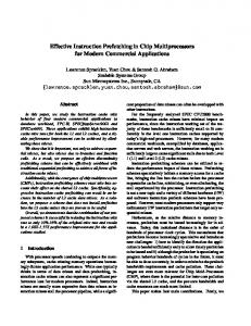 Effective Instruction Prefetching in Chip Multiprocessors ... - CiteSeerX