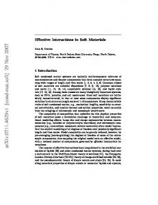 Effective Interactions in Soft Materials