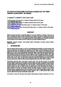 effective interatomic potentials based on the first- principles ... - J-Stage