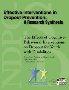 Effective Interventions in Dropout Prevention