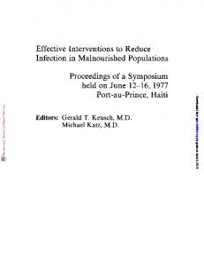 Effective Interventions to Reduce Infection in ...