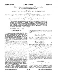 Effective mass of omega meson and NNo ... - APS link manager