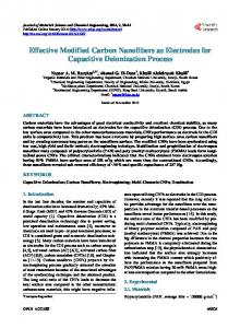 Effective Modified Carbon Nanofibers as Electrodes for Capacitive ...
