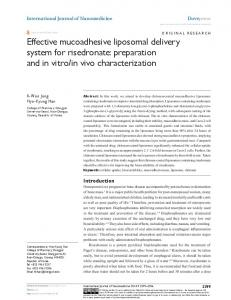 effective mucoadhesive liposomal delivery system
