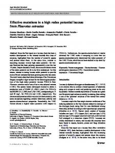 Effective mutations in a high redox potential laccase ...