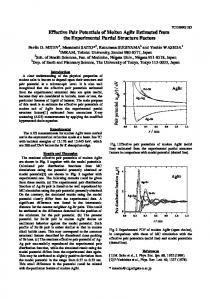 Effective Pair Potentials of Molten AgBr Estimated