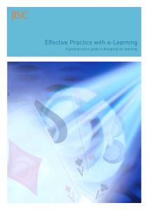 Effective Practice with e-Learning: A good practice guide in ...