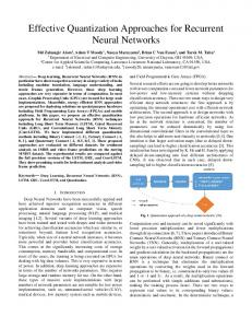 Effective Quantization Approaches for Recurrent Neural Networks