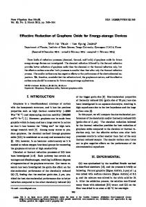 Effective Reduction of Graphene Oxide for Energy