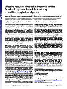 Effective rescue of dystrophin improves cardiac function in dystrophin ...