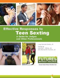 Effective Responses to Teen Sexting - Futures Without Violence
