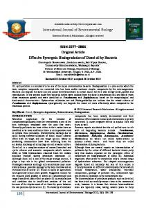 Effective Synergetic Biodegradation of Diesel oil by ... - URP Journals