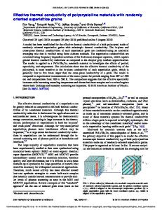 Effective thermal conductivity of polycrystalline
