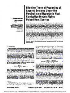 Effective Thermal Properties of Layered Systems ...