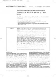 Effective treatment of mild-to-moderate nasal polyposis ... - OptiNose