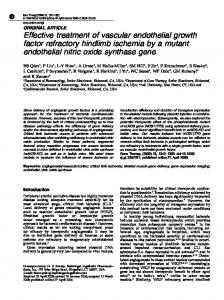 Effective treatment of vascular endothelial growth factor ... - Nature