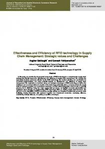 Effectiveness and Efficiency of RFID technology in Supply Chain ...