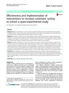Effectiveness and implementation of interventions to increase ...