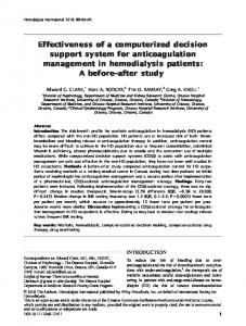 Effectiveness of a computerized decision support system for ...