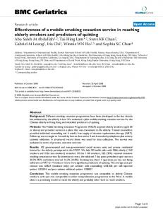 Effectiveness of a mobile smoking cessation service in reaching
