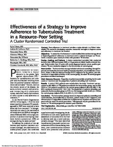 Effectiveness of a Strategy to Improve Adherence to ...