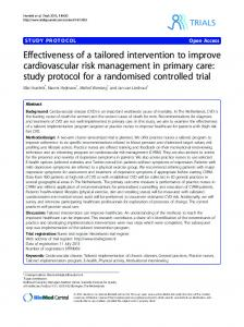 Effectiveness of a tailored intervention to improve ... - BioMed Central