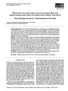 Effectiveness of conservation areas in protecting Shea trees against ...