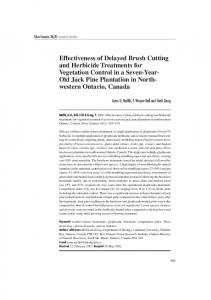 Effectiveness of Delayed Brush Cutting and Herbicide Treatments for ...