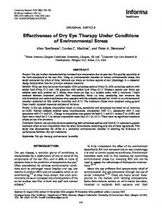 Effectiveness of Dry Eye Therapy Under ... - Semantic Scholar