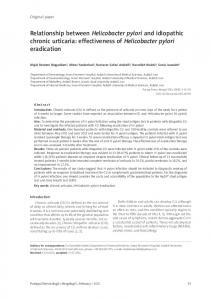 effectiveness of Helicobacter pylori eradication