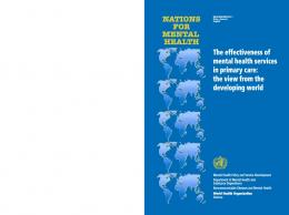 Effectiveness of mental health services in ... - World Health Organization