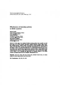 Effectiveness of monetary policies in OECD countries